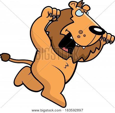 Cartoon Lion Attacking