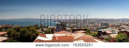 Panorama of the city of Valparaiso, Chile