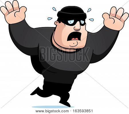 Cartoon Burglar Panic