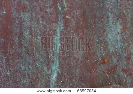 Old, Streaked, Painted And Weathered Metal Background