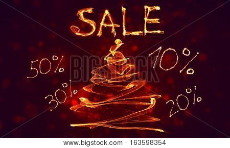 Big Special Hot Sale Offer Fire Background