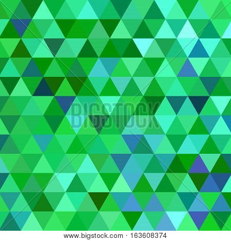 abstract vector geometric triangle background - teal and green