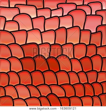 abstract vector stained-glass mosaic background - light red