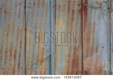 Sheet Metal Siding on exterior wall in industrial area