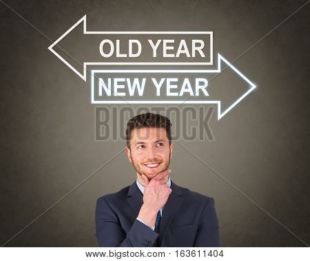 Old Year or New Year on Visual Screen