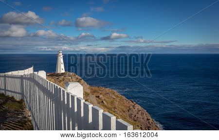 Cape Spear Lighthouse Overlooking The Atlantic Ocean