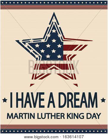 Martin Luther King Day card or background. vector illustration.