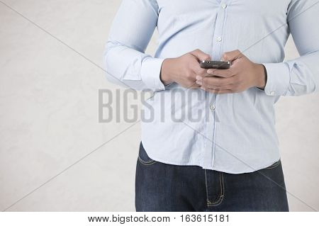 Man Using A Smartphone