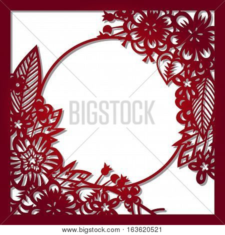 Laser cut flowers quare pattern vector photo bigstock laser cut flowers quare pattern for decorative panel vector template ready for printing postcards stopboris Images