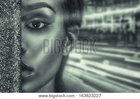 Portrait Of Beautiful African Girl.