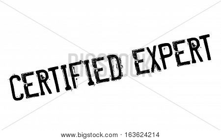 Certified Expert rubber stamp. Grunge design with dust scratches. Effects can be easily removed for a clean, crisp look. Color is easily changed.