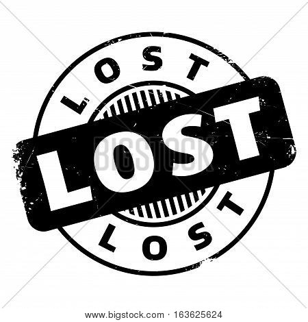 Lost rubber stamp. Grunge design with dust scratches. Effects can be easily removed for a clean, crisp look. Color is easily changed.