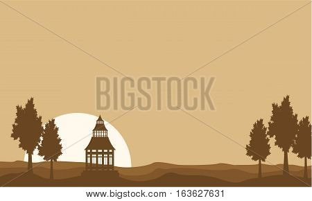 Vector flat of pavilion landscape collection stock