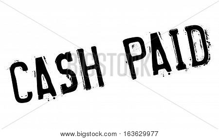 Cash Paid rubber stamp. Grunge design with dust scratches. Effects can be easily removed for a clean, crisp look. Color is easily changed.