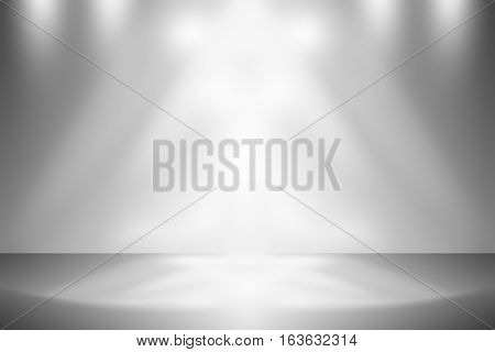 Abstract gray empty room studio gradient used for background and display your product