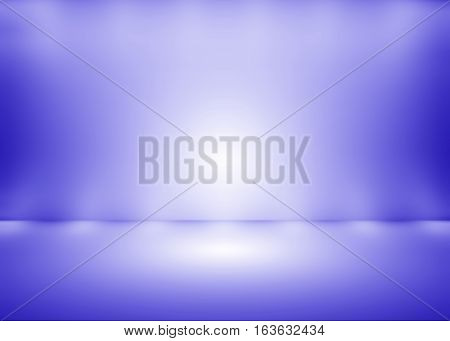 illuminated stage with scenic lights / Abstract purple empty room studio gradient with spotlight backdrop used for background and display your product