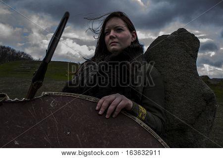 The female viking warrior. Shot in Denmark