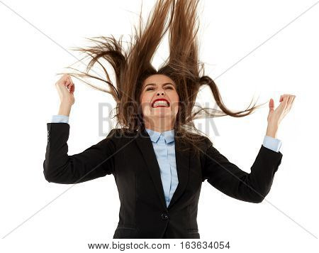 Very Angry Businesswoman Pulling Her Hair