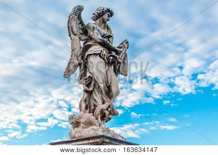 Angel By Bernini At The Castel Sant'angelo