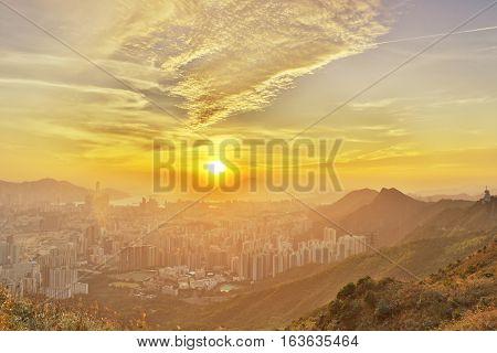 Hong Kong Cityscape Skyline 2016