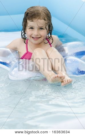 Playing in water