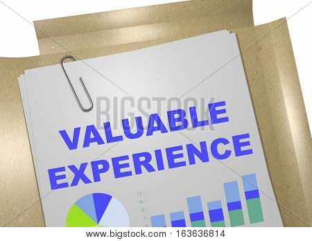 Valuable Experience - Business Concept
