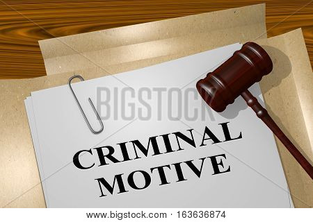 Criminal Motive - Legal Concept