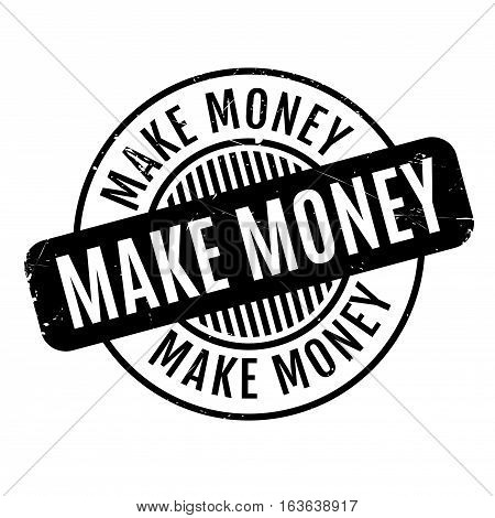 Make Money rubber stamp. Grunge design with dust scratches. Effects can be easily removed for a clean, crisp look. Color is easily changed.