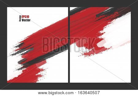 Vector brouchures bright grungy templates set. Elements for design. Magazine, annual reports vector templates. Eps10