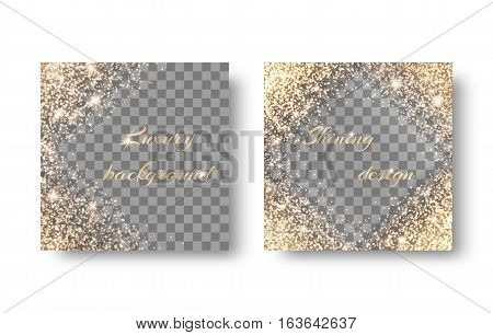 Set with sparkling backgrounds for design holiday cards