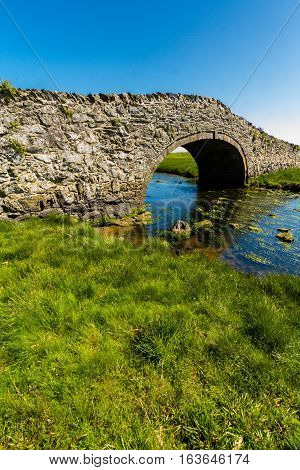 Old Hump Back Bridge, Aberffraw, Anglesey.