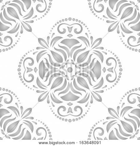 Seamless classic vector light silver pattern. Traditional orient ornament. Classic vintage background