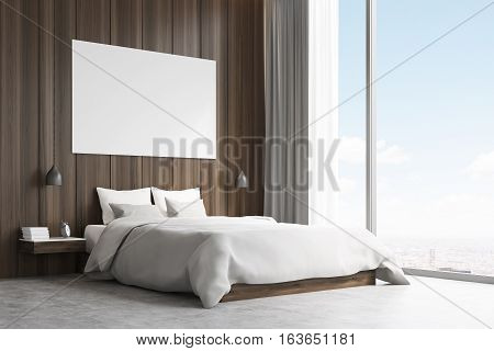 Side View Of A Double Bed