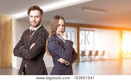 Portrait Of Business Partners In Office