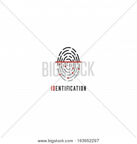 Fingerprint scanner logo identification user id touch finger authorization thumbprint technology icon