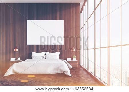 Wooden Bedroom With Poster, Toned