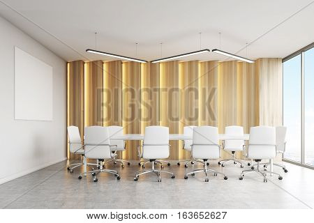Conference Room, Light Panels And Poster