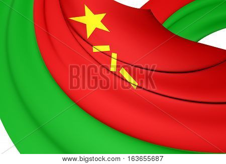 Ground Force Flag Of The People's Republic Of China. 3D Illustration.