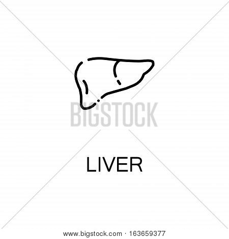 Liver flat icon. Single high quality outline symbol of human body for web design or mobile app. Thin line signs of liver for design logo, visit card, etc. Outline pictogram of liver