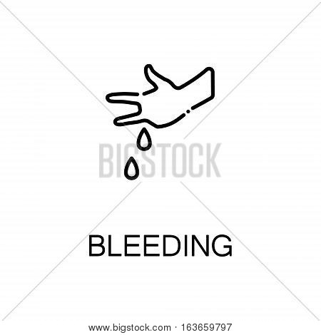 Bleeding flat icon. High quality outline symbol of illness and injury for web design or mobile app. Thin line sign of bleeding for design logo, visit card, etc. Outline pictogram of bleeding