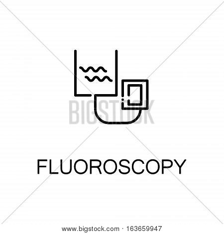 Fluoroscopy flat icon. High quality outline symbol of medical euipment for web design or mobile app. Thin line signs of fluoroscopy for design logo, visit card, etc. Outline pictogram of fluoroscopy