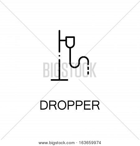 Dropper flat icon. High quality outline symbol of medical euipment for web design or mobile app. Thin line signs of dropper for design logo, visit card, etc. Outline pictogram of dropper