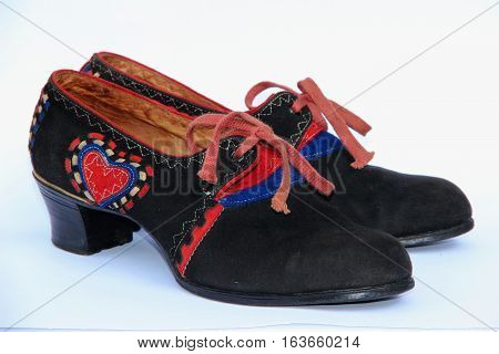 Historical shoes for period costumes from the region Hana.