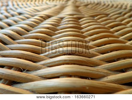 Closed up Texture of Natural Light Brown Color Rattan Furniture