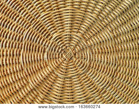 Beautiful Pattern and Texture of Natural Light Brown Rattan Furniture