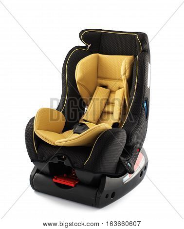 Safety Car seat for baby and kid isolated on white background