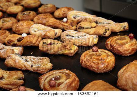 Fresh Croissants Assortment For Continental Breakfast