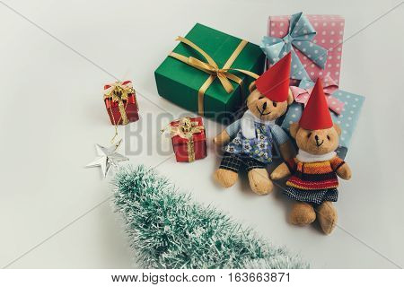 A Couple Lovely Bear And Ornament Christmas Items