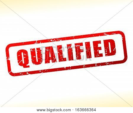 Illustration of qualified text buffered on white background