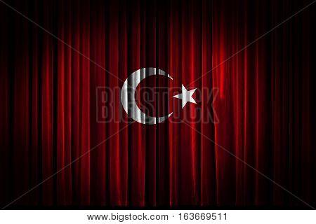 Flag Turkish Flag Design and Presentation, Scene